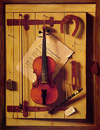 William Harnett - Still Life. Violin and Music